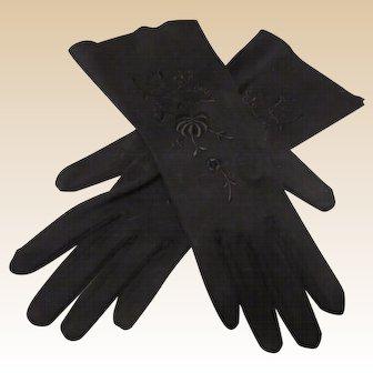 Beautiful Vintage Black Ladies Gloves