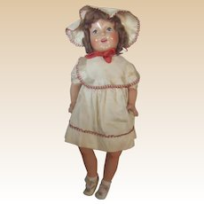 "Stunning Rare NM Condition 30"" Vintage Composition & Cloth Mama Doll Circa 1938"