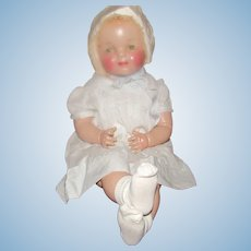 "Beautiful NM Condition 28"" Vintage Composition & Cloth Mama Doll Circa 1938"
