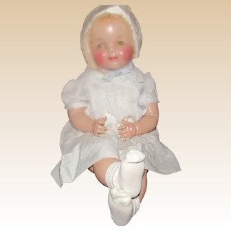 "Beautiful NM Condition 28"" Vintage Composition & Cloth Mama Doll Circa 1938"