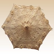 Vintage Stunning Lace and Satin Doll Parasol