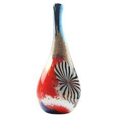 Aureliano Toso Oriente Vase Hand Blown Glass by Dino Martens