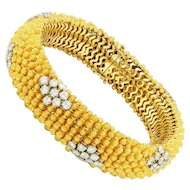 7.20ctw Diamond Bracelet in Solid 18kt Yellow Gold 8.25""
