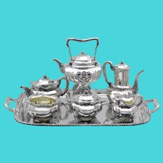 Tiffany & Co Chrysanthemum Sterling 7-Piece Tea & Coffee Service Set