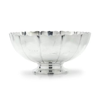"Fisher Sterling Silver Fruit Bowl Dublin 251 Large 11"""