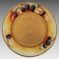 """J.H. Stouffer Co. H.P. 8 ¼"""" Blackberries Cake Plate"""