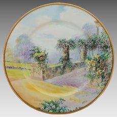 "Hand Painted 10 ¾"" ""Italian Garden"" Plate by Pickard Artist Arnold Rhodes"