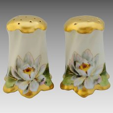 Walter Wilson H.P. Salt & Pepper with Water Lillies