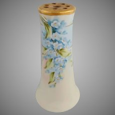 Pickard H.P. Forget-Me-Nots Hatpin Holder- artist signed