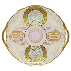 "Pickard H.P. 10 ¾"" New Arabian Cake Plate- artist signed ""Lind"""