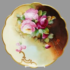 """Donath Studio 11 ¾"""" H.P. Charger with Roses- """"M. Roast Leroy"""""""
