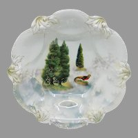 "R.S. Prussia 10.75"" Bowl With Golden Pheasant"