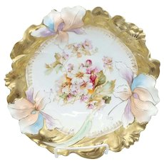 """R.S. Prussia 10.5"""" Iris Variation Bowl with Gold"""