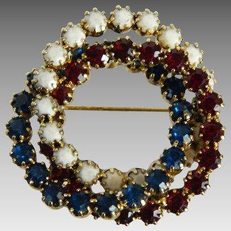Hobe Three Ring Interlocking Brooch