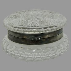 Cut Glass and Silver Vanity Jar.