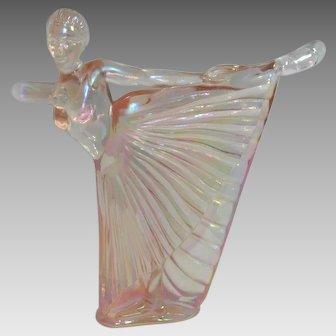 Fenton Pink Iridescent Ballerina