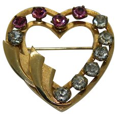 Catamore Heart Shaped Brooch