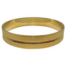 Crown Trifari Bangle Bracelet