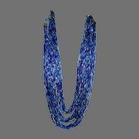 Hobe Multi Strand Glass Bead Necklace
