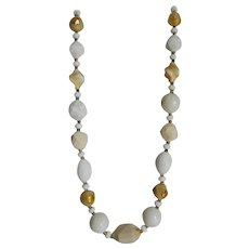 Hattie Carnegie Single Strand Lucite Multifaceted Bead Necklace