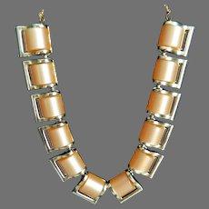Vintage Beige Thermoset Choker Necklace