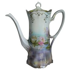 """Gorgeous RS Prussia Chocolate Pot """"Reflections"""""""