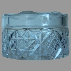 EAPG Clear Glass Vanity Jar