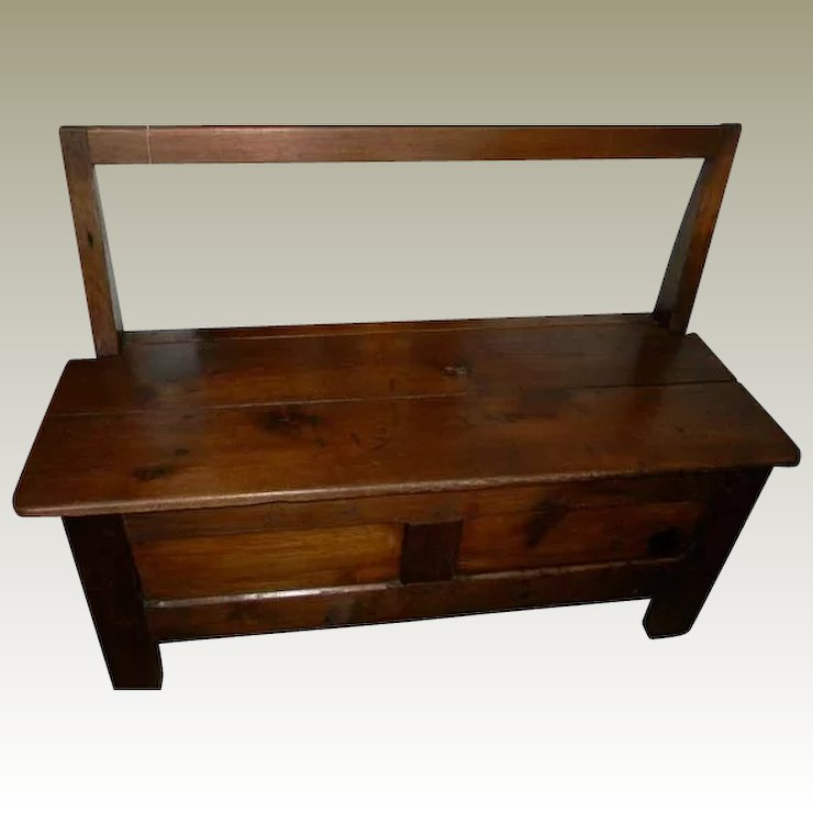 Ordinaire Antique Storage Bench From Bretony Region Of France Early 1800s