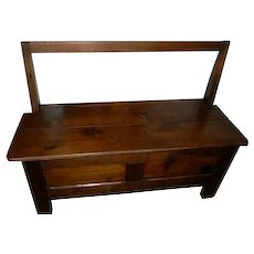 Antique Storage Bench from Bretony Region of France early 1800s