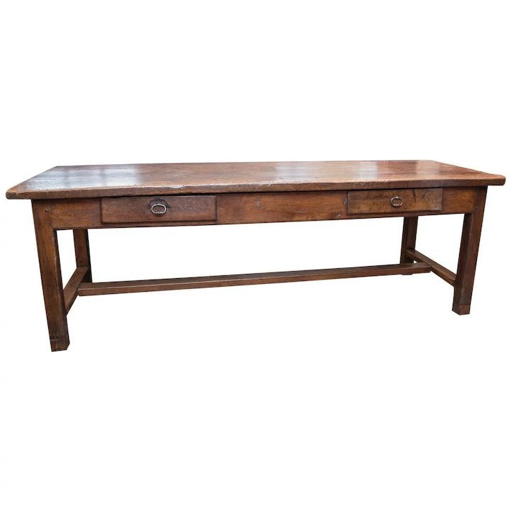 Antique French Farm Trestle Table Early 18th Century