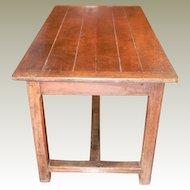 Trestle Table Desk France 18th Century Pegged Drawer