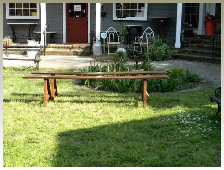 Antique French Farm Table Benches From 1800