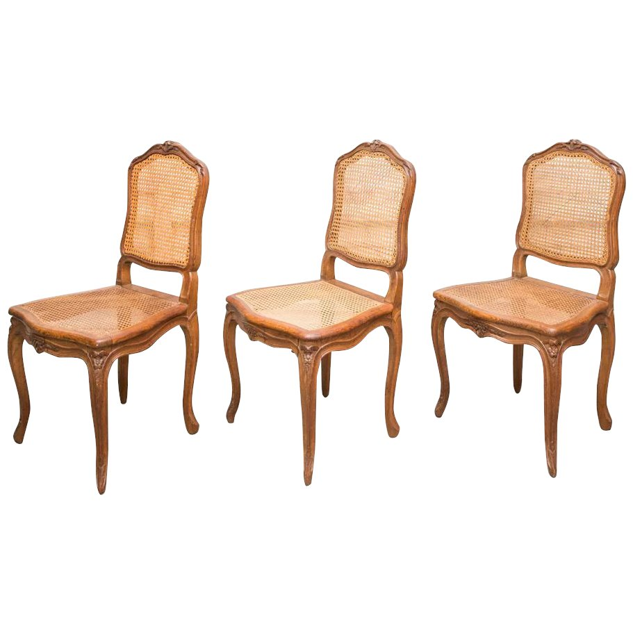 Incredible Set Of 6 Antique French Cane Dining Chairs Ncnpc Chair Design For Home Ncnpcorg