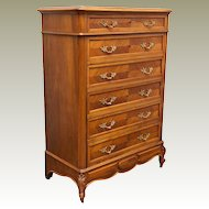 Circa 1900 France Louis XV Style Dresser Chiffonier Marquetry