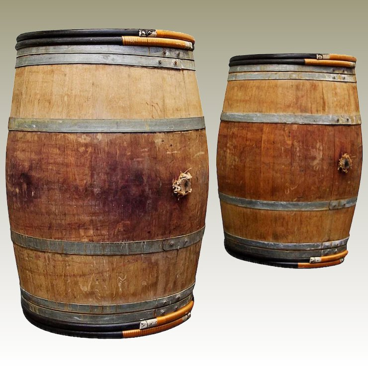 oak wine barrels. Vintage Oak Wine Barrels Bordeaux France