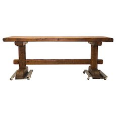 "19th C ""Game of Thrones"" style French farm table"