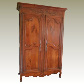 18th Century Louis XV Cherry Armoire