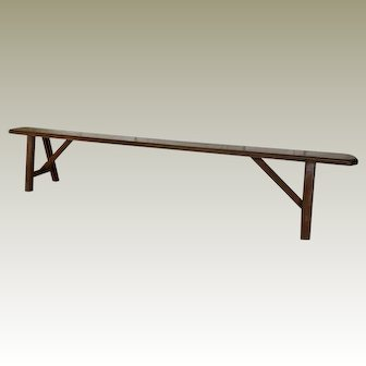 19th Century Rustic French Long Bench