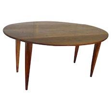 19th Century French  Walnut  Drop Leaf Table
