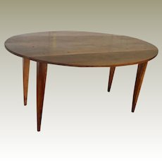 Walnut  Drop Leaf Table Directoire Style France C. 1830