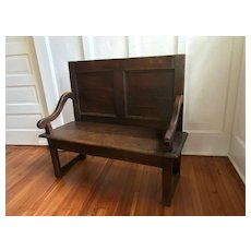 Antique French Settle Bench