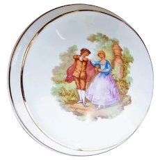Vintage Fragonard Victorian Style Couple Limoges Trinket Box