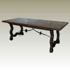 19th Century Spanish Trestle Farm Table