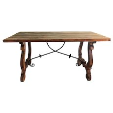 19th Century Spanish Trestle Table or Desk