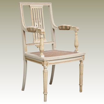 Vintage Cane Side Chair from Belgium Kasteel