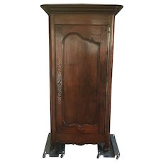 19th Century Walnut Bonnetiere Armoire