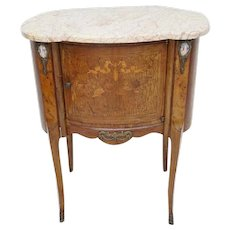 Antique French Side Table with Sevres Placque Inlay