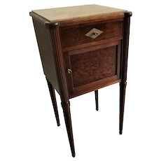 Antique French Directoire Style Mahogany Chevet