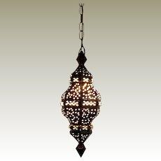 Antique Moroccan Brass Hanging Lantern