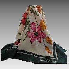 Glorious Nicole De Beauvon Paris Large Silk Tulips Scarf